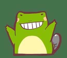 Chicken and frog sticker #5109436