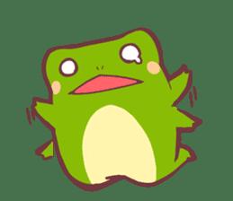Chicken and frog sticker #5109442