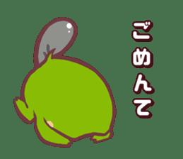 Chicken and frog sticker #5109443