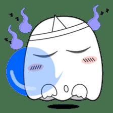 Cute Ghost-U sticker #5109459