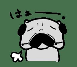 pug sticker6 sticker #5114091