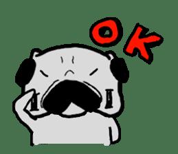 pug sticker6 sticker #5114107
