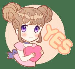 Girls and Rabbits Sticker sticker #5119092