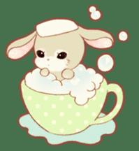 Girls and Rabbits Sticker sticker #5119102
