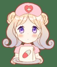 Girls and Rabbits Sticker sticker #5119106