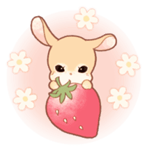 Girls and Rabbits Sticker sticker #5119110