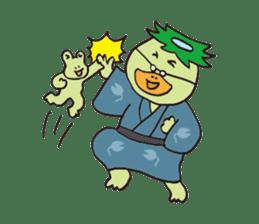 Novelist of Kappa &  Pupil of Frog sticker #5129078