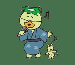 Novelist of Kappa &  Pupil of Frog sticker #5129084