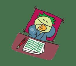 Novelist of Kappa &  Pupil of Frog sticker #5129085