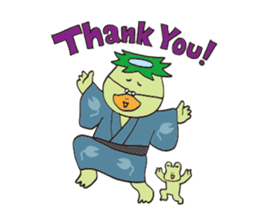 Novelist of Kappa &  Pupil of Frog sticker #5129091