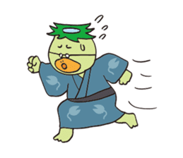 Novelist of Kappa &  Pupil of Frog sticker #5129096