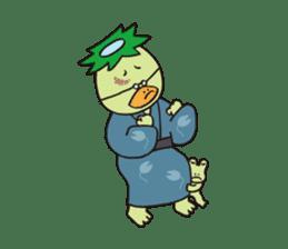 Novelist of Kappa &  Pupil of Frog sticker #5129100