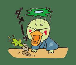 Novelist of Kappa &  Pupil of Frog sticker #5129101