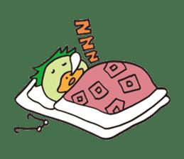 Novelist of Kappa &  Pupil of Frog sticker #5129108