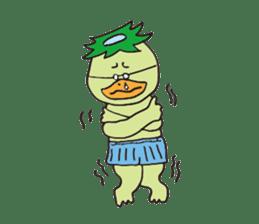 Novelist of Kappa &  Pupil of Frog sticker #5129109