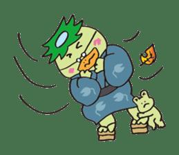 Novelist of Kappa &  Pupil of Frog sticker #5129111