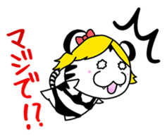 Cute! Funny dog and annoying cat sticker #5131029