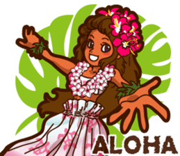 """ALOHA!"" Hawaiian & Tropical Sticker sticker #5131318"
