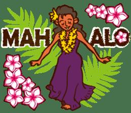 """ALOHA!"" Hawaiian & Tropical Sticker sticker #5131319"