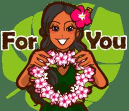 """ALOHA!"" Hawaiian & Tropical Sticker sticker #5131320"