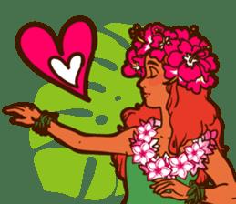 """ALOHA!"" Hawaiian & Tropical Sticker sticker #5131321"