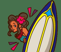 """ALOHA!"" Hawaiian & Tropical Sticker sticker #5131324"
