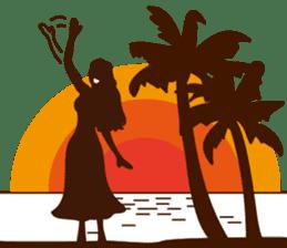 """ALOHA!"" Hawaiian & Tropical Sticker sticker #5131357"