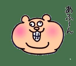 kumanyan  Strange bear sticker #5132816