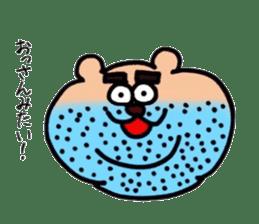kumanyan  Strange bear sticker #5132830