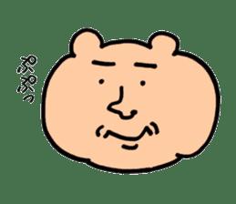 kumanyan  Strange bear sticker #5132831