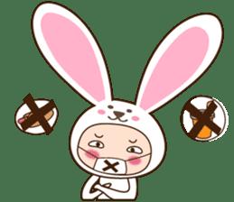 cranky rabbit sticker #5145490