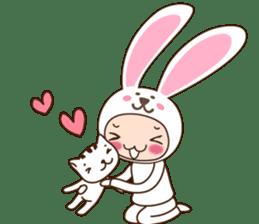cranky rabbit sticker #5145492