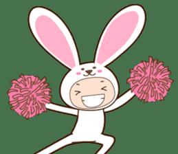 cranky rabbit sticker #5145494