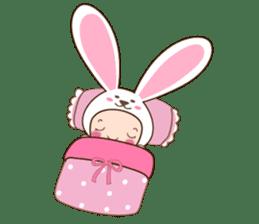 cranky rabbit sticker #5145499