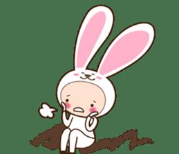 cranky rabbit sticker #5145501