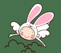 cranky rabbit sticker #5145509