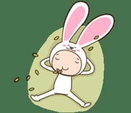 cranky rabbit sticker #5145511