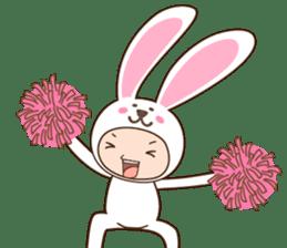cranky rabbit sticker #5145515