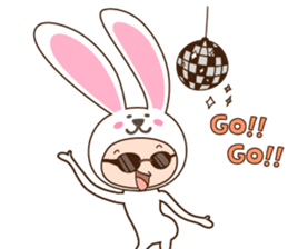 cranky rabbit sticker #5145516