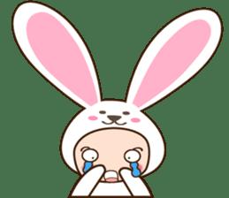 cranky rabbit sticker #5145519