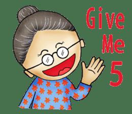 My humorous grandma sticker #5157306