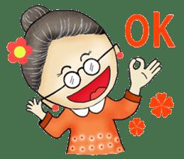 My humorous grandma sticker #5157307