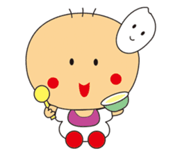 Jhen-jhu meatballs(Big-Head Boy) sticker #5160575