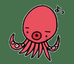 machan of octopus sticker #5160783