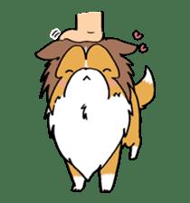 Cute sheltie sticker #5161819