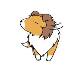 Cute sheltie sticker #5161820