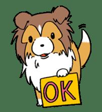 Cute sheltie sticker #5161826