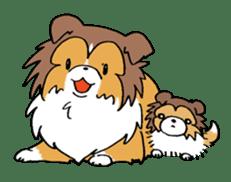 Cute sheltie sticker #5161851