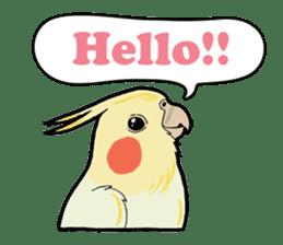 Whimsical Cockatiel sticker #5161852