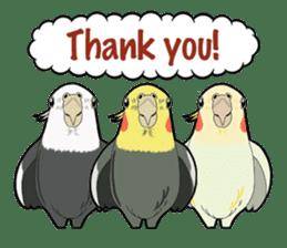 Whimsical Cockatiel sticker #5161855